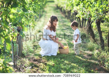happy young mother and her son spending time outdoor in the park  Stock photo © Lopolo