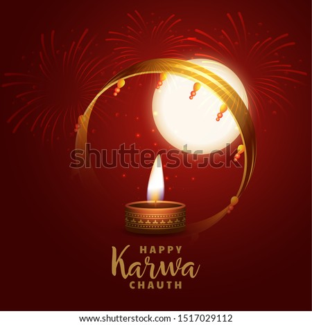 hindu festival of karwa chauth realistic background design Stock photo © SArts