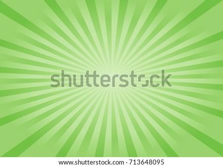 Beautiful Green summer sun rays, sun burst background with circle for your text. Stock vector illust Stock photo © kyryloff