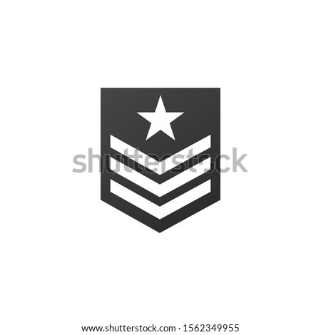 Badge military icon, army chevron with star. Stock Vector illustration isolated on white background. Stock photo © kyryloff