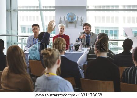 Hátsó nézet jólöltözött üzletember kéz kaukázusi kolléga Stock fotó © wavebreak_media