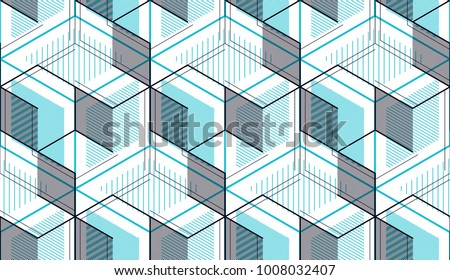 Isometric graphic pattern. Abstract seamless and repeatable vector. Spring colors.  Stock photo © ukasz_hampel