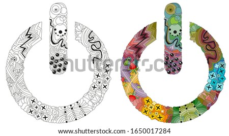 Zentangle stylized On Off switch - vector icon. Hand Drawn lace vector illustration Stock photo © Natalia_1947