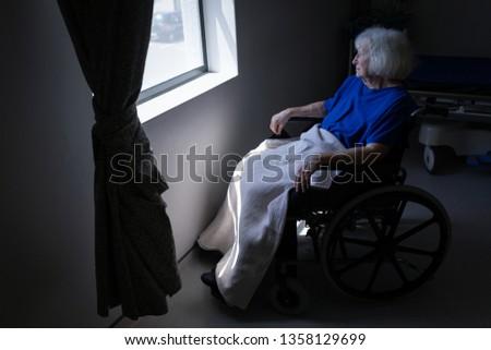Vista lateral senior caucasiano feminino paciente Foto stock © wavebreak_media