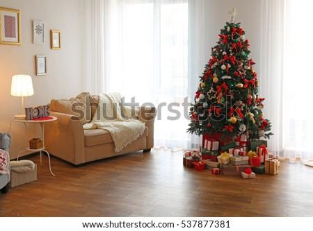 фотография украшенный Новый год рождественская елка украшение форме Сток-фото © vkstudio
