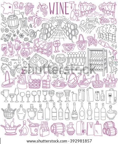 wooden barrel for wine products icon vector outline illustration Stock photo © pikepicture