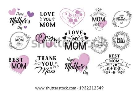 Liefde moeder wenskaart ontwerp bloem Stockfoto © articular