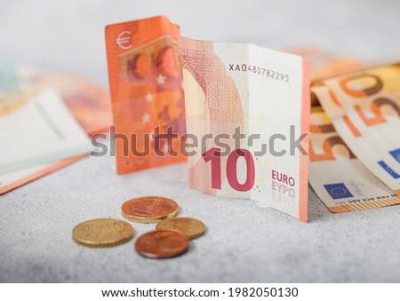 Dieci euro monete luce economia Foto d'archivio © DenisMArt