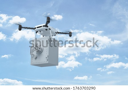 quadrocopter on clouds sky. 3d illustration Stock photo © ISerg