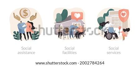 Welzijn diensten abstract vector illustraties metaforen Stockfoto © RAStudio