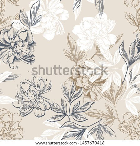 Beige peony flower as abstract floral background for holiday branding Stock photo © Anneleven