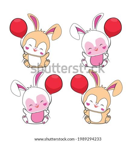 набор четыре Cute русалка Cartoon стиль Сток-фото © bluering