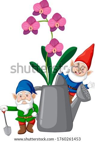Konewka cartoon stylu biały ilustracja Zdjęcia stock © bluering