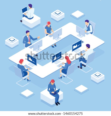 Supply chain analytics concept landing page Stock photo © RAStudio