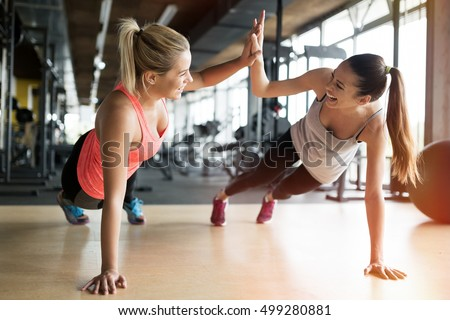 Woman in gym class Stock photo © photography33