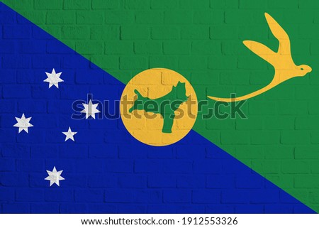 flag of christmas island on brick wall stock photo © creisinger