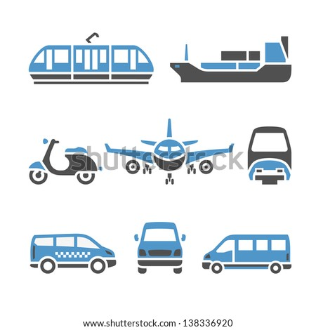 Transport icônes vecteur illustrations silhouettes Photo stock © Ecelop