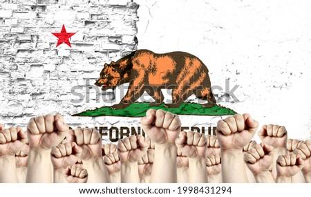Punho pintado cores Califórnia bandeira baixo Foto stock © vepar5