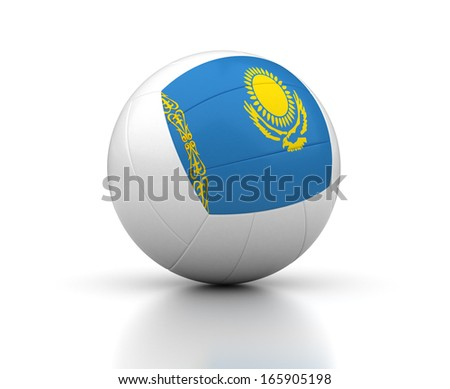 Stock photo: Kazakh Volleyball Team