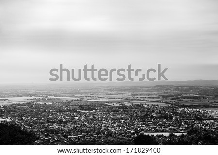 View of Cheltenham Racecourse from above Stock photo © jayfish