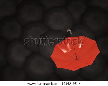 Vermelho guarda-chuva preto diretamente acima tiro Foto stock © AndreyPopov