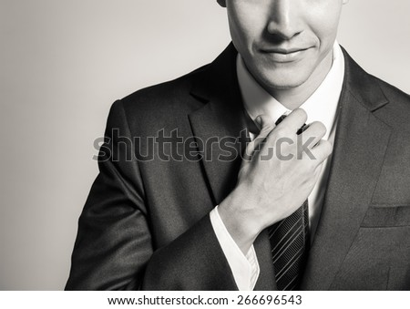 Young confident businessman indoor Stock photo © d13