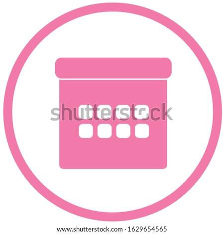 Calender Sign Pink Vector Button Icon Stock photo © rizwanali3d