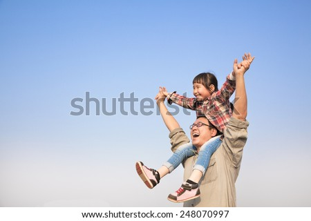 parents and children on sky Stock photo © Paha_L
