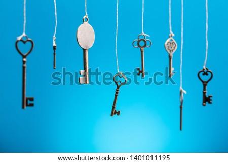 trancado · teclas · cadeado · cadeia · caderno · teclado - foto stock © barbaraneveu