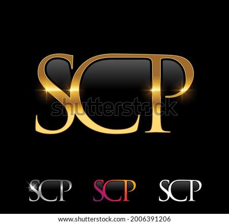 Elegant SCP Logo Design Set Stock photo © sdCrea