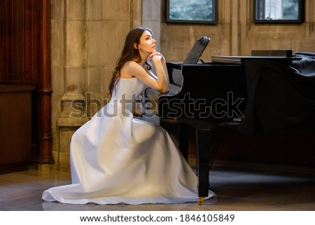 beauty young bride alone in luxury vintage interior with a lot of flowers close up, bridal style Stock photo © iordani