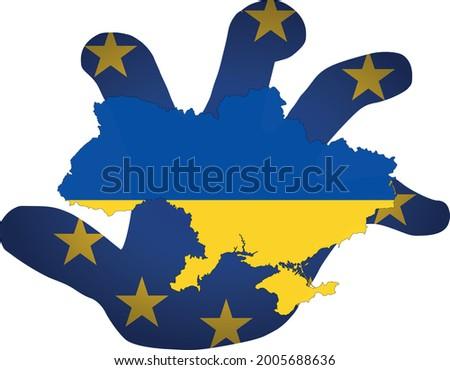 Ukrajna konfliktus clipart kép térkép világ Stock fotó © vectorworks51