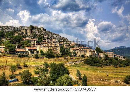 Comps sur Artuby, Provence, France Stock photo © phbcz