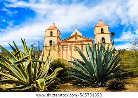Abstract oude Californië kerk shot missie Stockfoto © bobkeenan