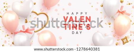 San · Valentín · día · venta · banner · vector · compras - foto stock © ikopylov