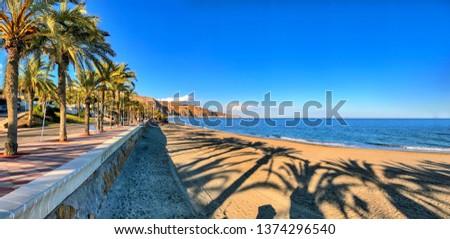 Panoramic view of Almeria Stock photo © benkrut