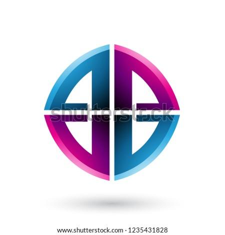 Blue and Magenta Double Sided Shape of Letter B Vector Illustrat Stock photo © cidepix