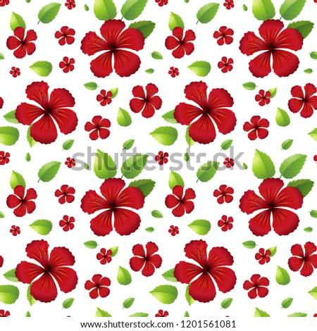 Rood · hibiscus · bloem · naadloos · natuur - stockfoto © colematt