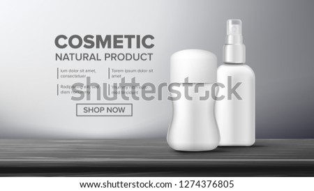 Cosmetic Bottle Package Vector. Beauty Bckground. Jar Blank. Glossy, Bright. Clean, Glowing. 3D Mock Stock photo © pikepicture
