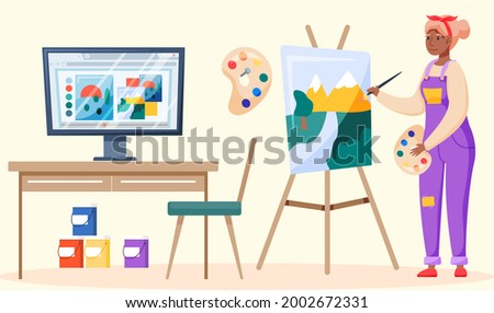 Video Tutorials Poster with Text Sample and Info Stock photo © robuart