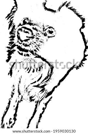 Kutya fej ikon sziluett retró stílus monokróm Stock fotó © JeksonGraphics