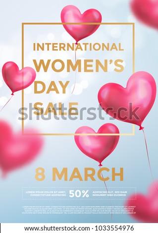 Женский день продажи дизайна воздушный шар сердце розовый Сток-фото © articular