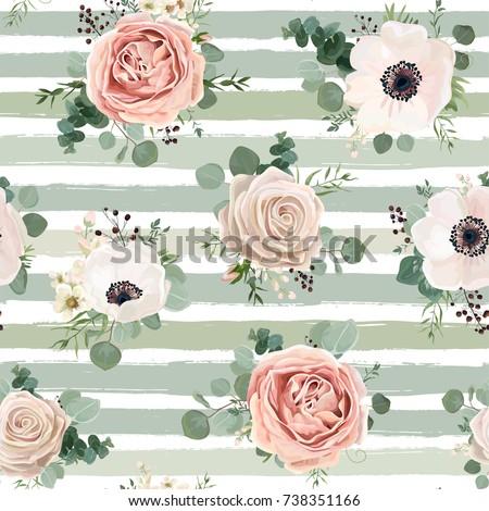 roze · rozen · boeket · geïsoleerd · witte · vector - stockfoto © frimufilms