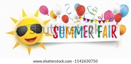 papier · banner · grappig · zon · zomer · eerlijke - stockfoto © limbi007