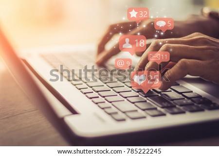 keyboard with network concept Stock photo © ra2studio