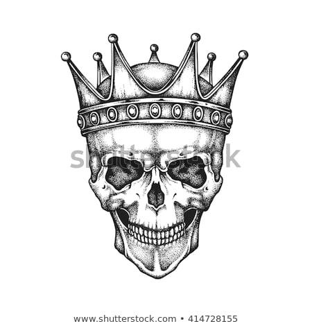 Crâne humaine squelette roi royal Photo stock © Krisdog