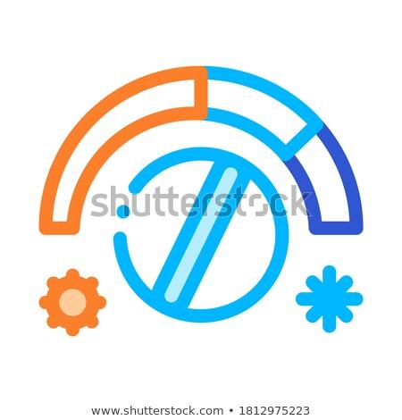 Riscaldamento raffreddamento dettaglio vettore icona sottile Foto d'archivio © pikepicture