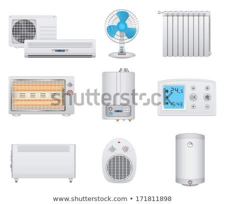 ホーム 電子 加熱 ベクトル アイコン ストックフォト © pikepicture