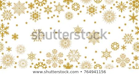 Karácsony hópehely végtelen minta csempézett zuhan hó Stock fotó © SwillSkill