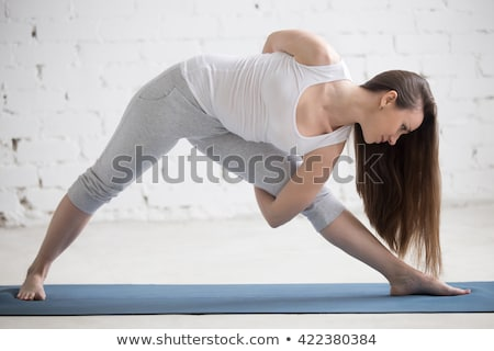 simple tank top woman_Cross-with-arms Stock photo © toyotoyo